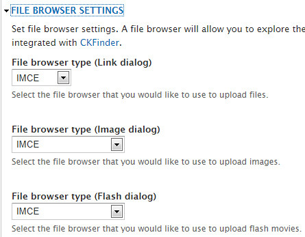File browser settings