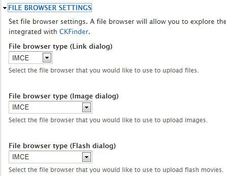 File browser settings