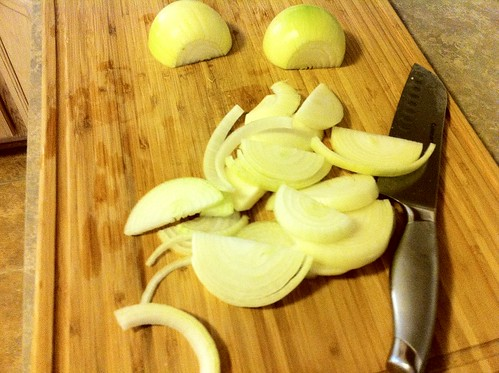 2 Sliced Yellow Onions