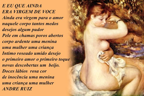 E EU QUE AINDA ERA VIRGEM DE VOCE by amigos do poeta