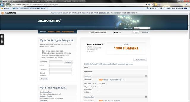 PCMark 7 Score