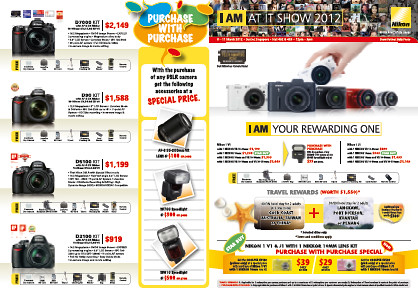 Nikon will be at Level 4, Halls 402 & 403, Booth 8218 in Suntec Singapore during IT Show 2012 from 8-11 March 2011.