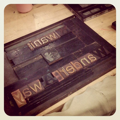 ABCs of Letterpress class first project. by KozoStudio