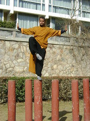 Tue, 15/03/2011 - 07:27 - FIRST INDIAN SHAOLIN WARRIOR SHIFU KANISHKA DOING POLE BALANCING TRAINING IN SHAOLIN TEMPLE WUSHU GUAN WWW.SHAOLININDIA.COM Shaolin Kung Fu India
