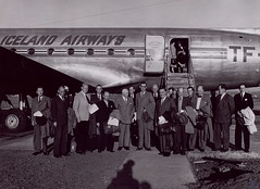 aviation, airliner, airplane, vehicle, crew, monochrome,