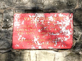 Image of Victoria Bar. plaque