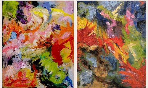 Diptych of Overpainting by Sultry