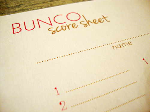 photo regarding Cute Bunco Score Sheets Printable referred to as Libbie Grove Structure: No cost Printable: Bunco