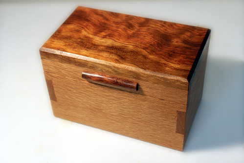 Lacewood and Bubinga Box - closed