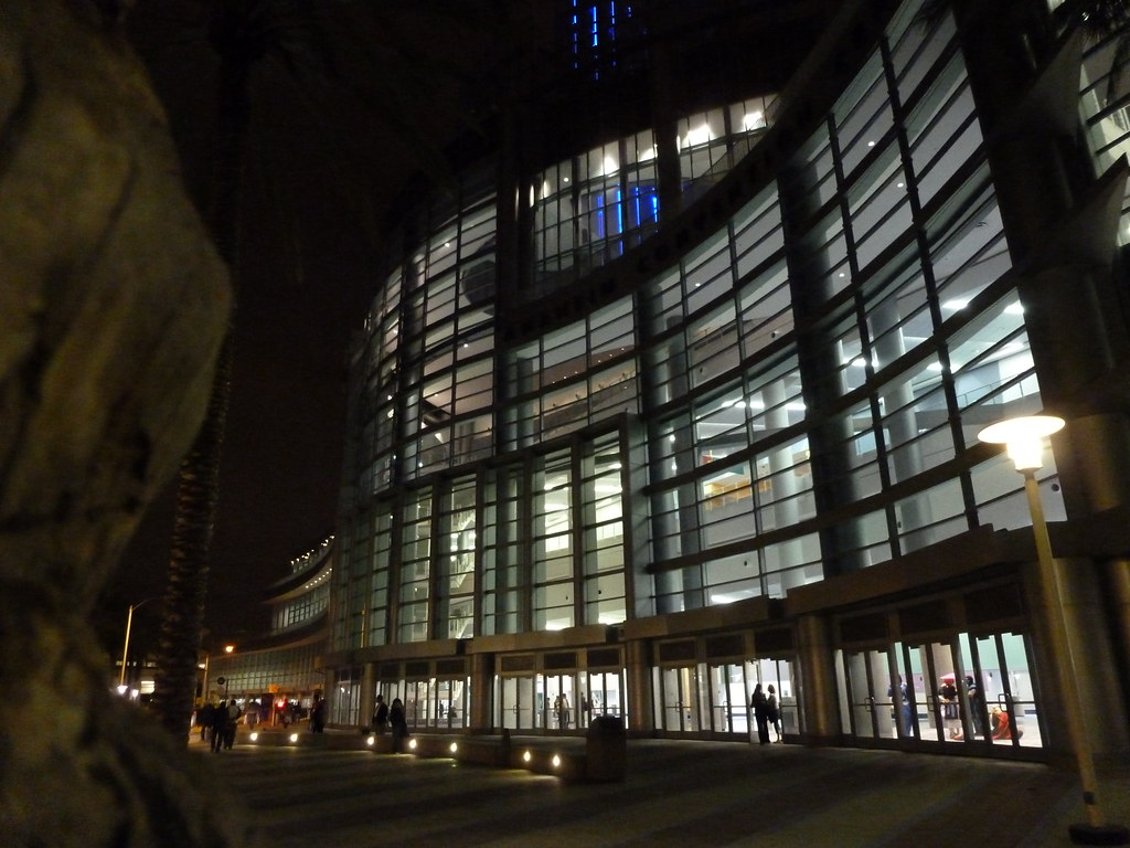 Nighttime Convention Center View