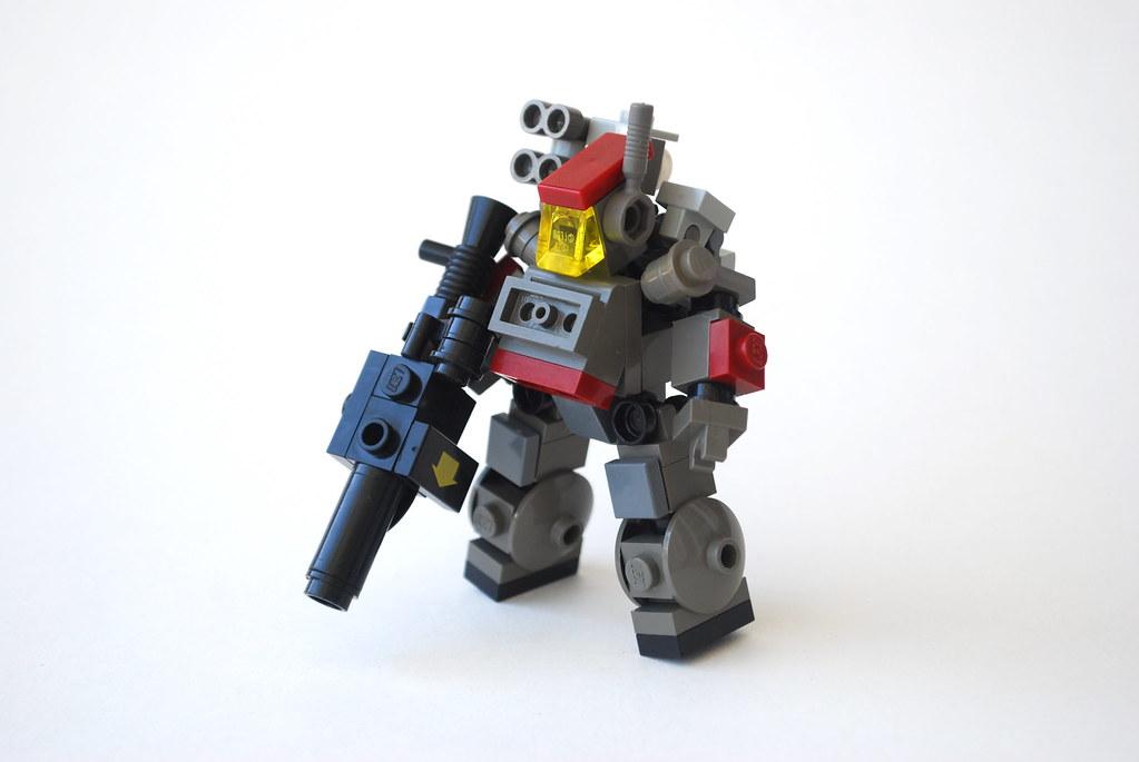 Как сделать из лего мини робота для человека