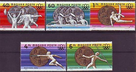 Známky Maďarsko 1976, LOH medailisti