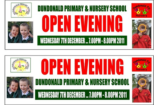 DUNDONALD PRIMARY SCHOOL  FULL COLOUR PRINTED BANNER