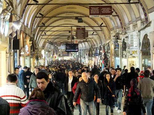 Az isztambuli fedett bazár (szombaton)