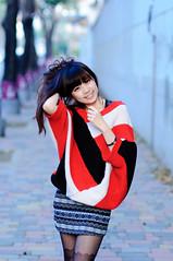 [フリー画像素材] 人物, 女性 - アジア, 台湾人, セーター ID:201303141800