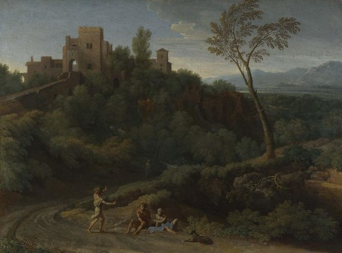 Imaginary Landscape with Buildings in Tivoli Gaspard Dughet about 1670 by renzodionigi