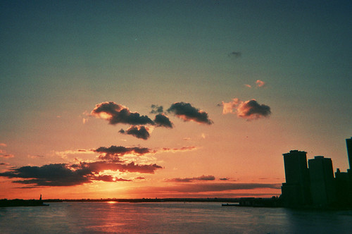 New York Sunset by Katarina Ribnikar