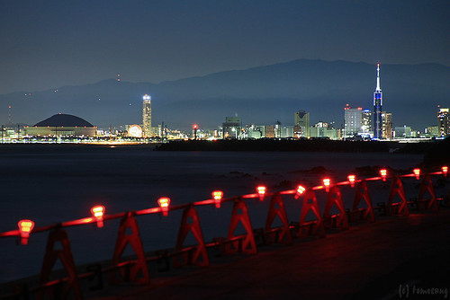 night_from_shikanoshima_island