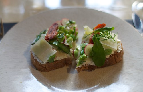 Spring Vegetable Tartine