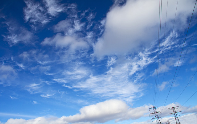 Blue Sky and Power Lines