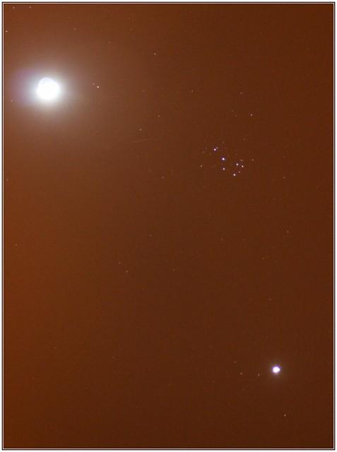 Luna + Pléyades + Venus
