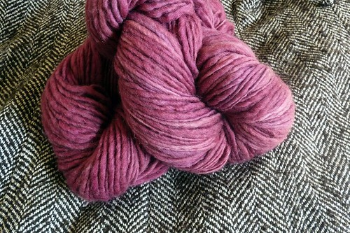 Pink yarn for my snood