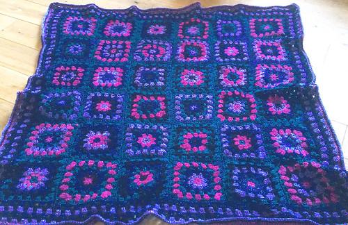 Jewel Granny Squares - Knee Rug
