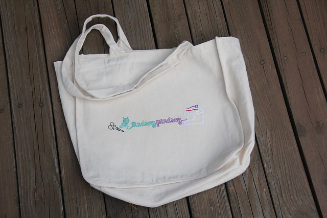 Blog header on tote bag