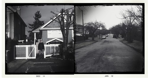 Our house. In the middle of the street