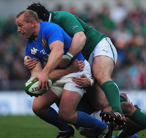 Ghiraldini contro l'Irlanda