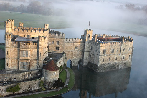 Leeds Castle aerial view 3