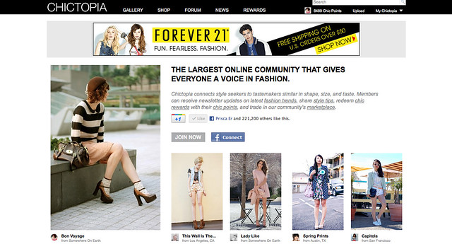 Chictopia Home Page Feature