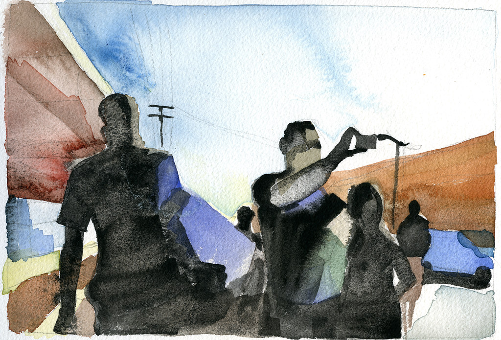 kloof street scene watercolor