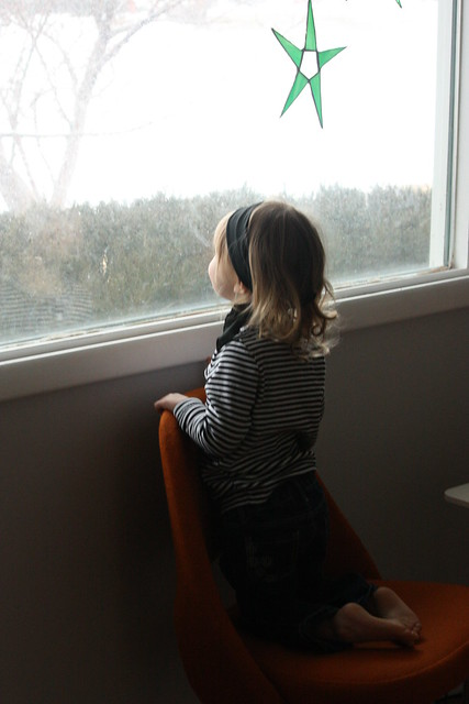 watching snow fall