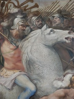 Detail from fresco Battle against the Velenti and the Fedenati by Cavalier d'Arpino 1568-1640 CE (2)