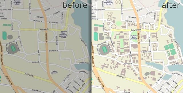 Louisiana State University in OpenStreetMap