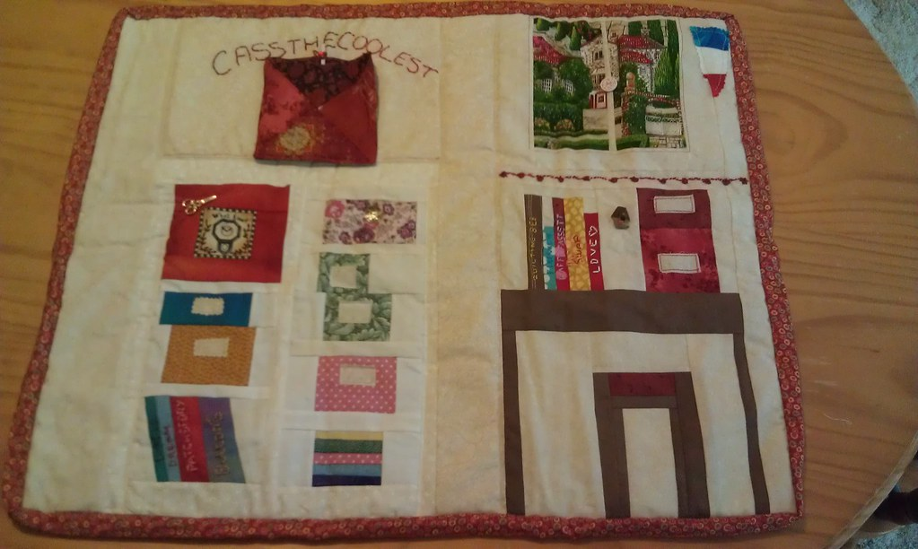 Mini quilt received from Christine cricrij77
