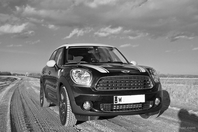 Mini countryman cooper d black white flickr photo sharing