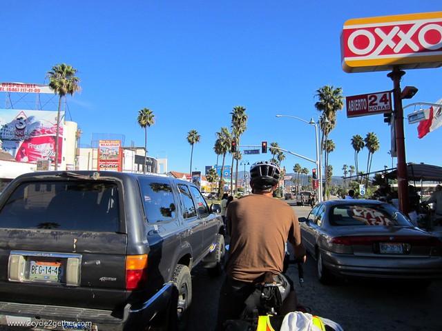 Riding into Ensenada