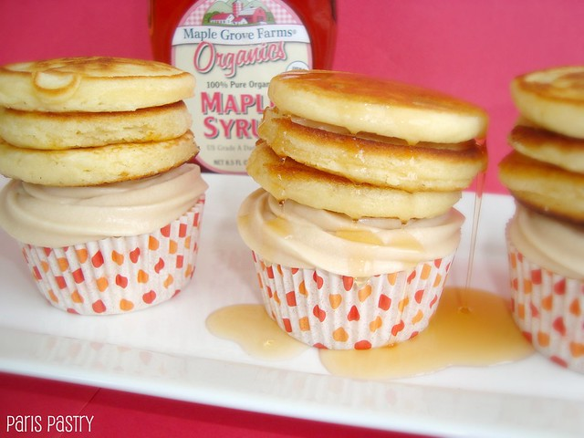 Maple Pancake Cupcakes
