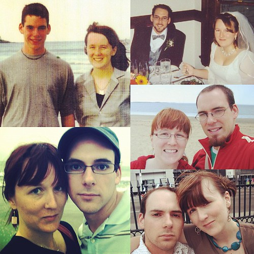 Saw lots people sharing old couple pics. From upper left clockwise 96,02,05,07,08