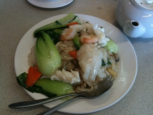 Combination Seafood with Handmade Noodles ($11.50)