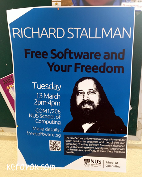 Richard Stallman in Singapore