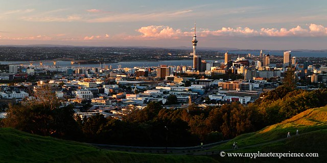 New Zealand - Auckland city from Mt Eden