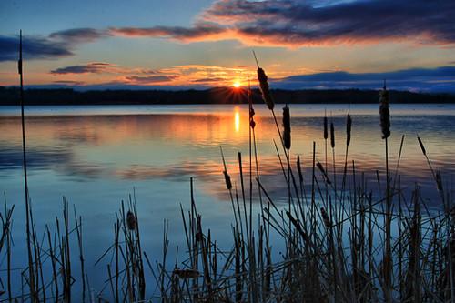 new york sun lake water sunrise canon landscape dawn upstate malta round waterfallguy