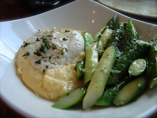 Poached egg w/ asparagus, polenta and bianco sardo @ MB Post (before)