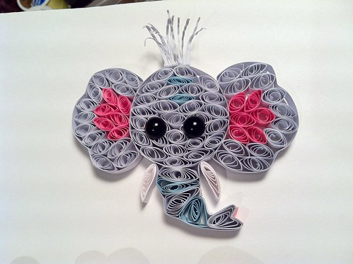elephant handmade shadowbox custom quill filigree quilling paperquilling hopesart paperfiligree hopesartcreationsetsycom