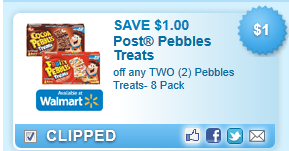 Pebbles Treats, 8 Pack Coupon