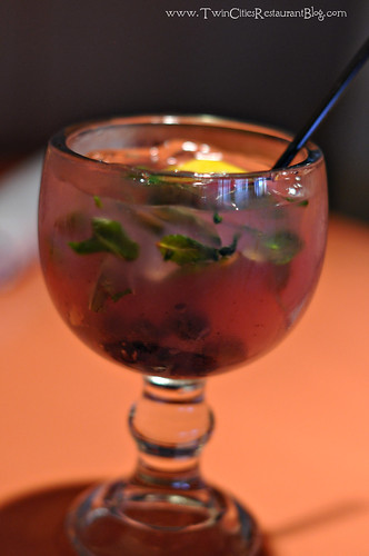 Blueberry Mojito at Uptown Cafeteria ~ Minneapolis, MN