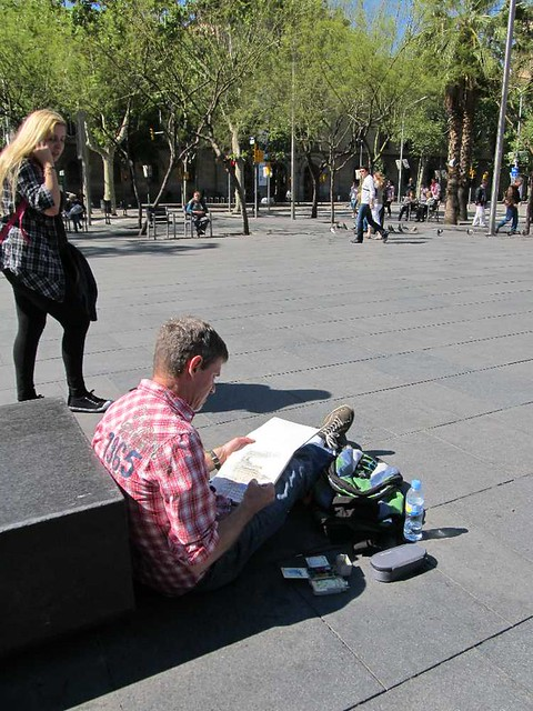 sketching in Barcelona